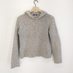J. Crew Wool Blend Hooded Sweater Size Medium